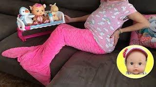 24 horas embarazada cantando canciones infantiles con mis muñecas bebés llorones y Nenuco Lola