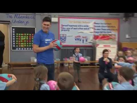 Gareth Barry Grilled By Four-Year-Olds!