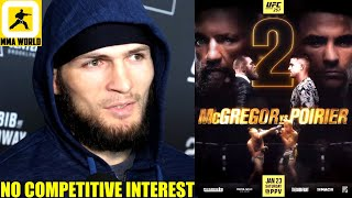 Khabib reacts to Dana White feeling he will fight again and go for the 30-0 record,Conor McGregor