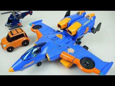 TOBOT Airplane 또봇 마하 W - TOBOT transformers car and plane toys