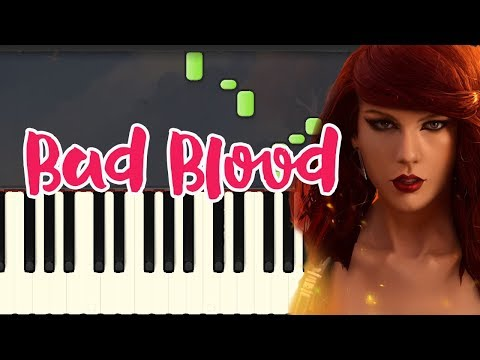 Bad Blood-Taylor Swift (Piano Tutorial Synthesia)