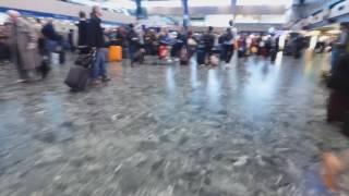 Inspector sands at Euston (includes evacuation alarm)