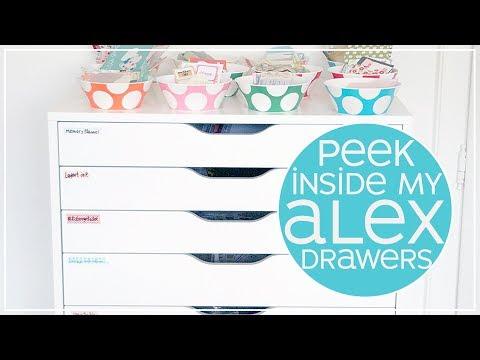 My Planner Supplies And Sticker Storage | IKEA Alex Drawers 2018