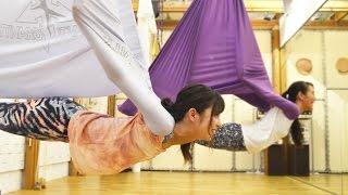 石川恋のCute up lesson08【反重力ヨガにトライ】 石川恋 検索動画 6