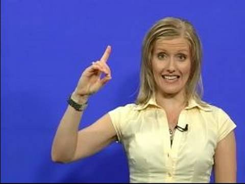 Sign Language Lessons: Alphabet & Numbers : How To Sign Letters D, E, & F In Sign Language