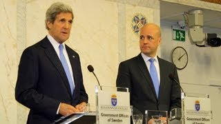 Secretary Kerry Delivers Remarks With Swedish Prime Minister Reinfeldt