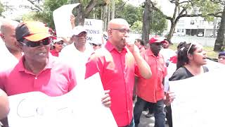 PPP stage peaceful protest against illegal and unconstitutional APNU+AFC gov't