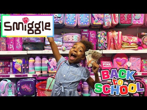 SMIGGLE BACK TO SCHOOL SUPPLIES TOY SHOPPING HAUL CHALLENGE