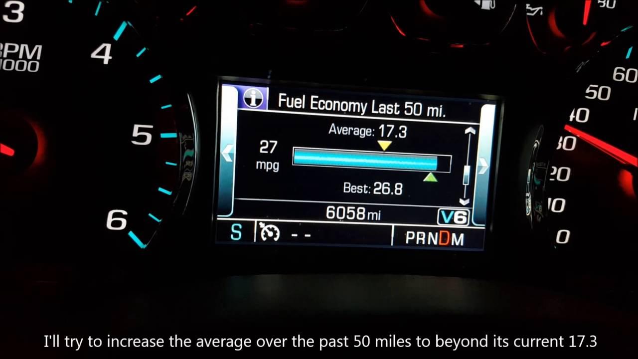 2015 Chevy Silverado Fuel Economy / MPG - YouTube