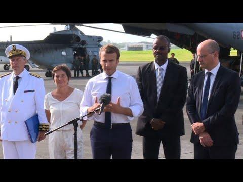 Macron wants 'return to normal life' on hurricane-hit Caribbean