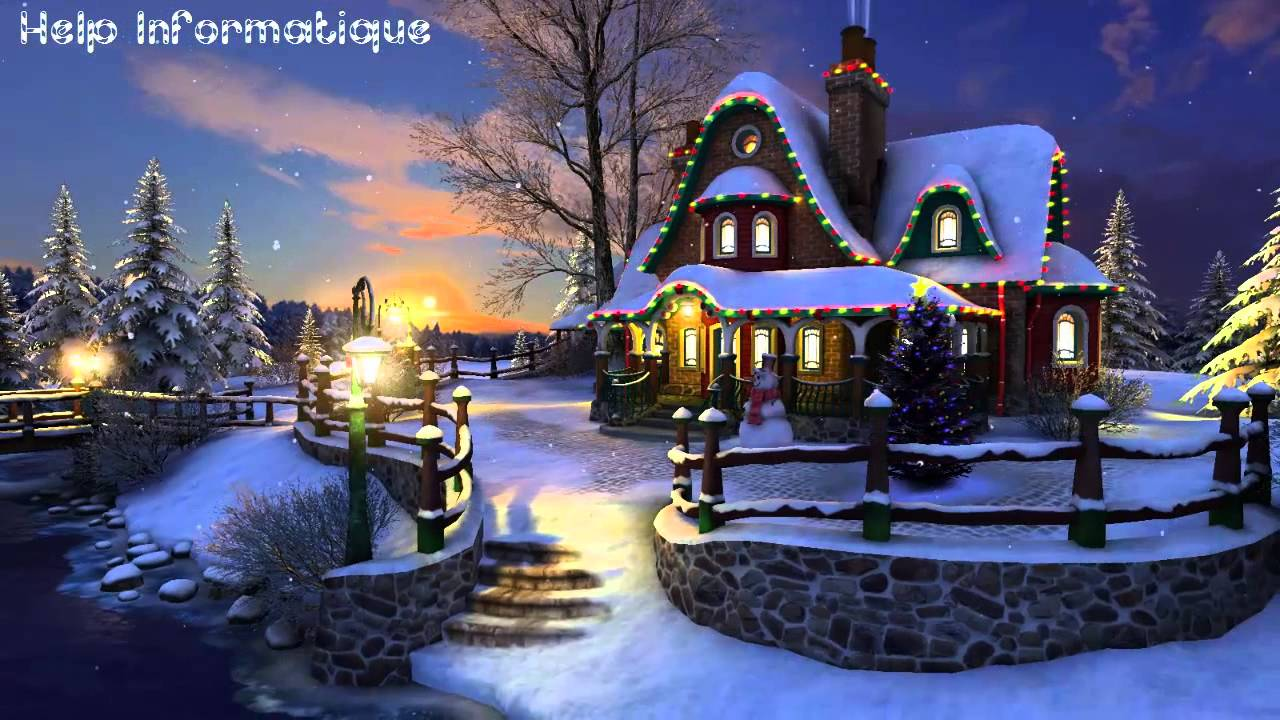 hd | white christmas 3d screensaver & wallpaper - youtube