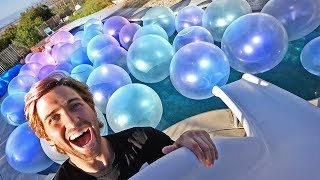 FILLED OUR POOL WITH WUBBLE BUBBLES!