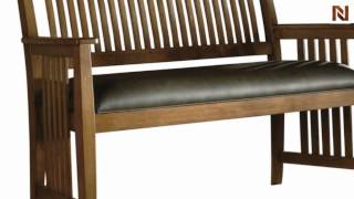 Hekman Bench - Leather Seat 8-4005