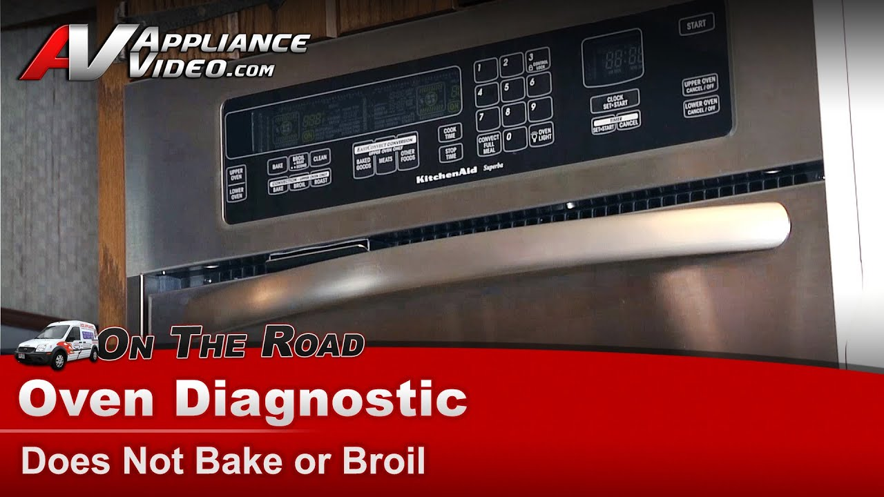 kitchenaid whirlpool wall oven diagnostic does not bake or broil