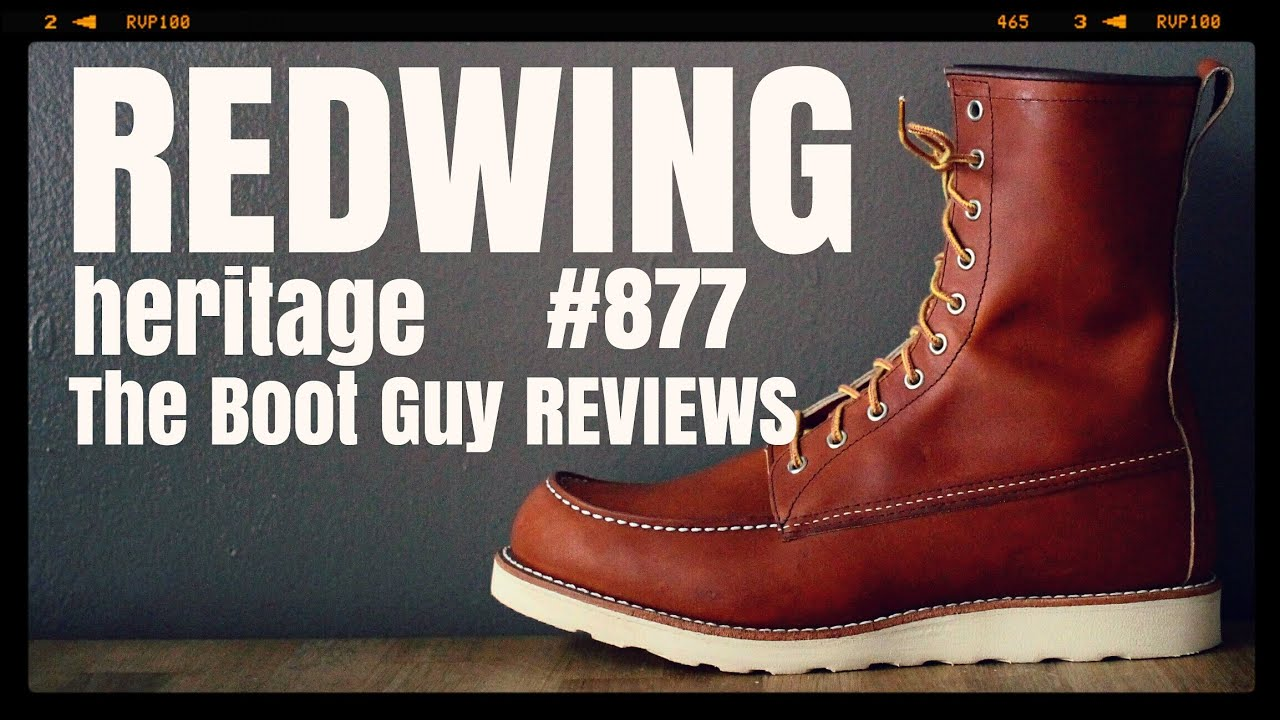 c8621df0f50 REDWING HERITAGE CLASSIC MOC STYLE NO. 877 [ The Boot Guy Reviews ]