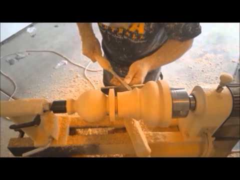 Woodturning a Giant Chess Pawn