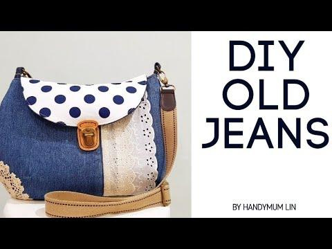 diy-old-jeans-into-sling-bag-|-super-lovely-|-easy-sewing-tutorial-|-非常实用的手作圅-|-共有8个口袋啚!!!#handymum❤