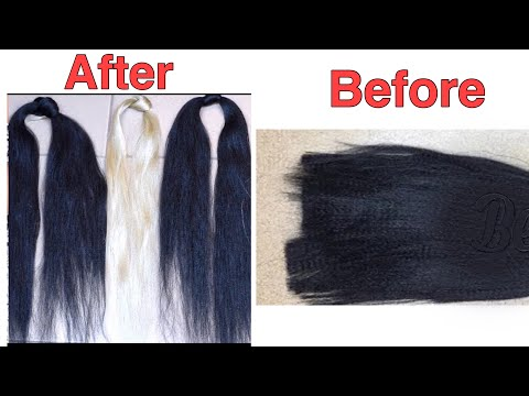 HOW TO STRETCH KANEKALON BRAID HAIR   FEATHERED XPRESSION ATTACHMENT   TAPERED TIPS   Ladyrella