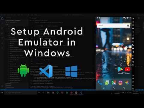 Setup Android Emulator On Windows For Visual Studio Code
