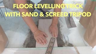 Concrete Floor Leveling Trick with Sand and Screed Tripod - Mryoucandoityourself