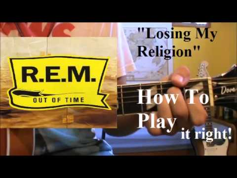 how to play losing my religion on acoustic guitar