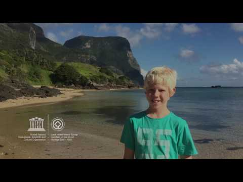 Lachlan #MyOceanPledge Lord Howe Island Group World Heritage marine site