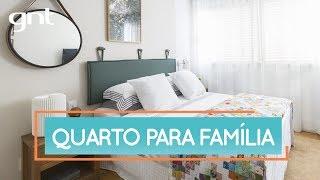 Quarto de casal para a família | Antes e Depois | Decora | Maurício Arruda