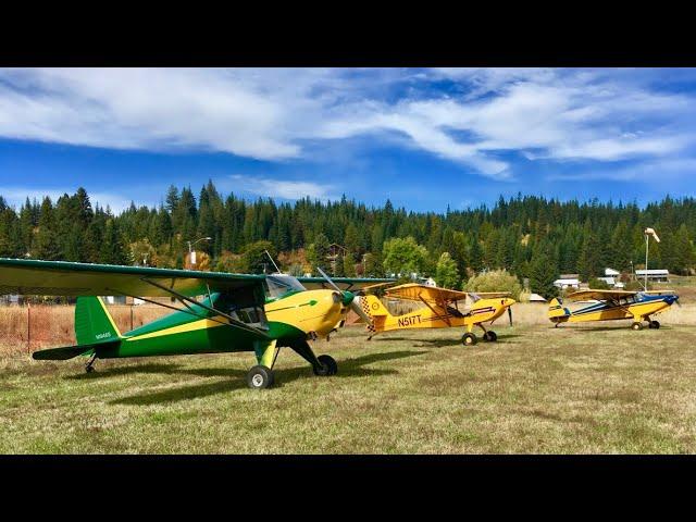 Flight of 3 taildraggers to Elk River, Idaho
