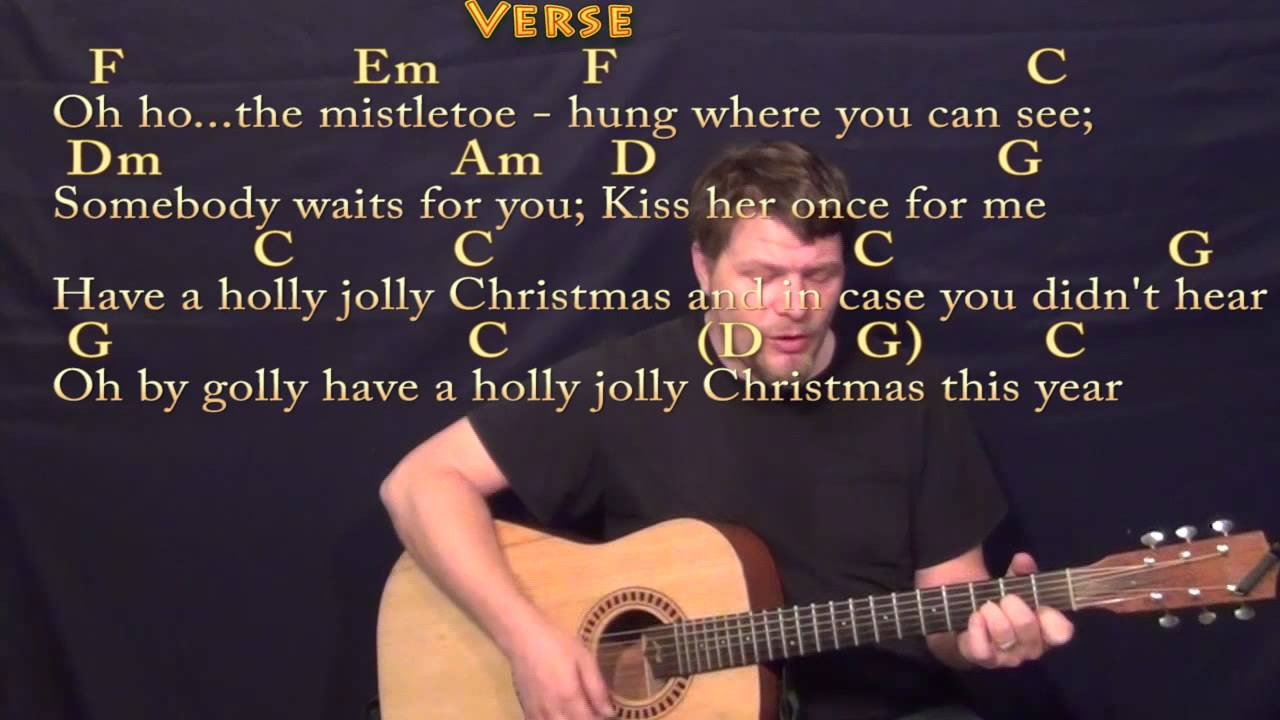Holly Jolly Christmas Strum Guitar Cover Lesson In C With Chords