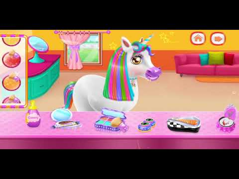 Unicorn Braided Hairstyle Makeover by Hipoo Games - YouTube