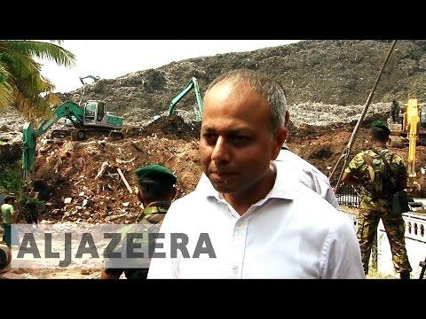 Sri Lanka dump collapse: Dozens still trapped under rubbish