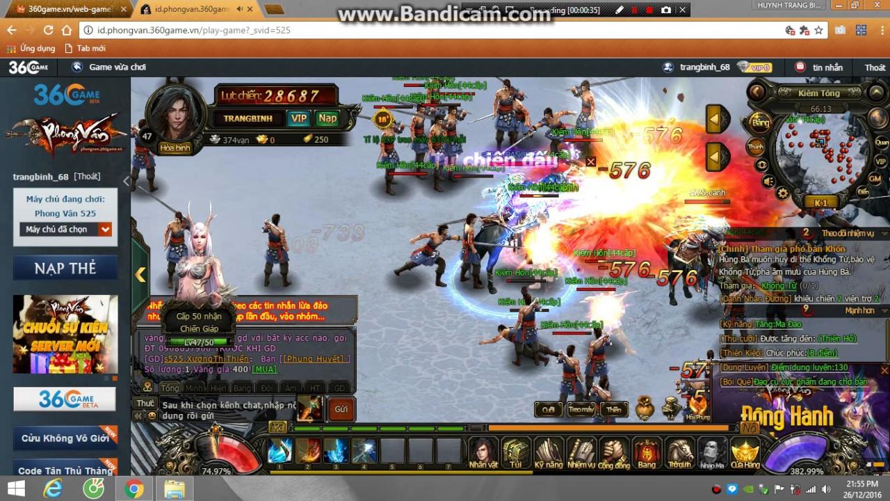 Game Phong Vân PC player HUynhTrangBinh
