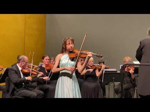Alexandra Cooreman Illumine Le 1er Concerto Pour Violon De Mendelssohn.