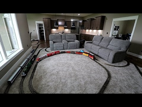 The First Model Train Video From My New House!