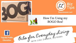 How I'm using my BOGO Box!  doTERRA Essential Oil training with Blue Diamond Advocate Lisa Zimmer.