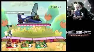 melee fc 10r project m teams daze p3 and monk p2 vs ko kingpin p1 and mr pickle p4