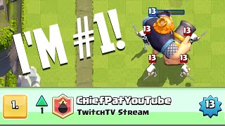 clash royale i m 1 in the world royal gg giant gameplay