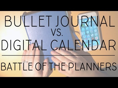 What I Did | Using my Bullet Journal with my Digital Calendar