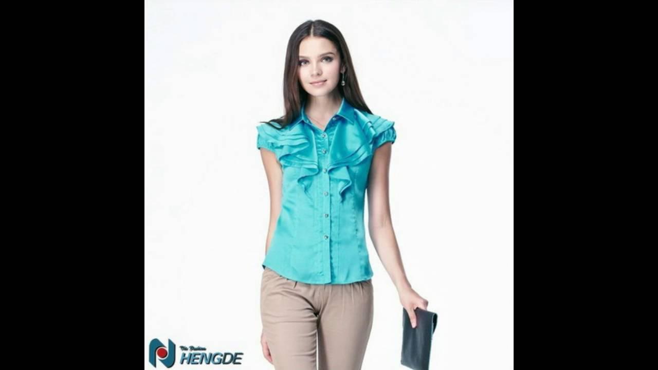 e01bd6f301 Modelos de blusas de vestir - YouTube