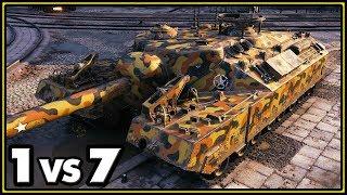T95 - 11 Kills - 1 vs 7 - World of Tanks Gameplay
