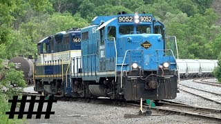 Lycoming Valley EMD GP20 9052 and Nittany & Bald Eagle EMD GP8 1601 Engines Turn Around