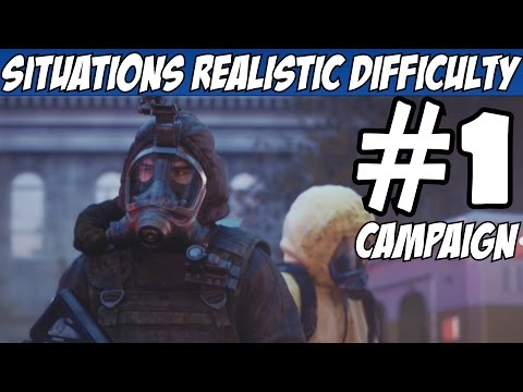 Rainbow Six Siege Situations Realistic Walkthrough Part 1 Mode All Objectives Gameplay Review