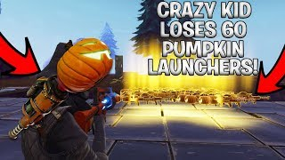 Crazy Noob Loses 60 Pumpkin Launchers! (Scammer Gets Scammed) Fortnite Save The World