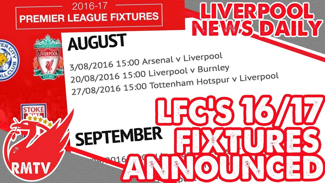 liverpool fc fixtures 17/18