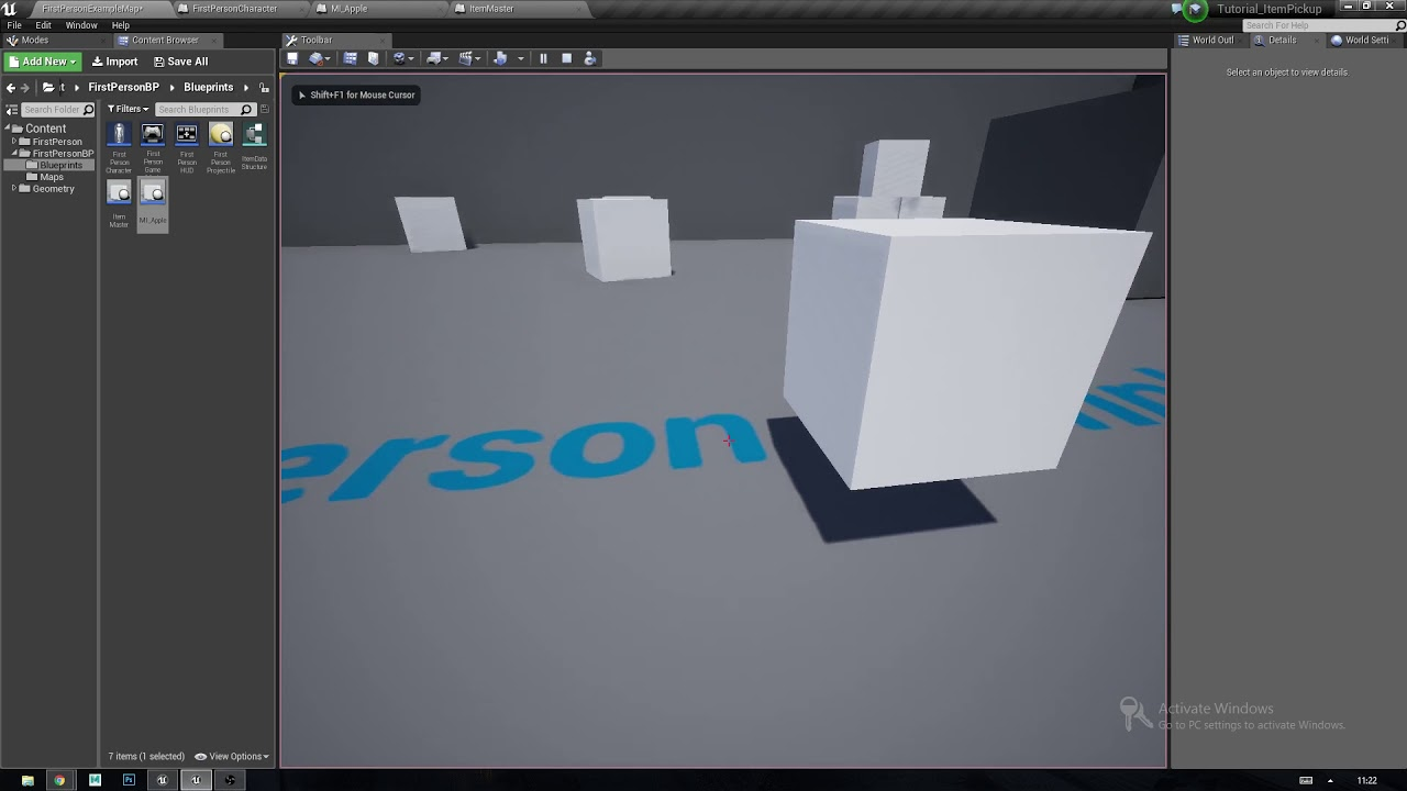 Ue4415 simple object interaction line trace first person ue4415 simple object interaction line trace first person data structure tutorial malvernweather Images