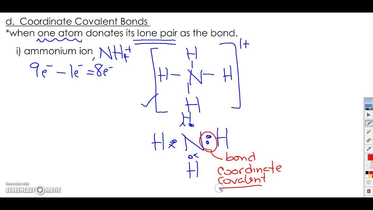 Coordinate Covalent Bonds - YouTube