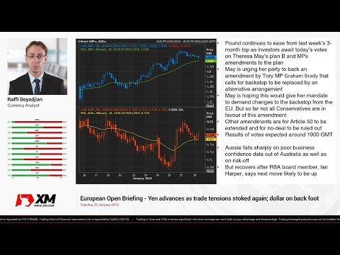 Forex News: 29/01/2019 - Yen advances as trade tensions stoked again; dollar on back foot