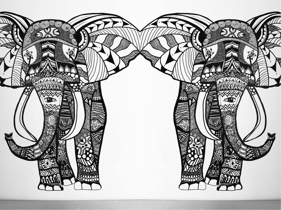 Wall Art Elephant Speed Painting