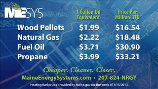 Maine Energy Systems (MESys) - Fuel Price Comparison
