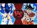 SONIC Vs GOKU! ANIME MOVIE! (Sonic The Hedgehog Vs Dragon Ball Super) Cartoon Fight Animation